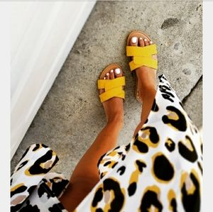 🆕️//The Austin// yellow crisscross sandal